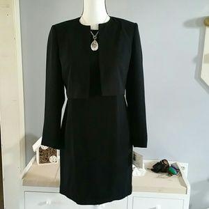 NWT Liz Claiborne sheath dress with cropped jacket